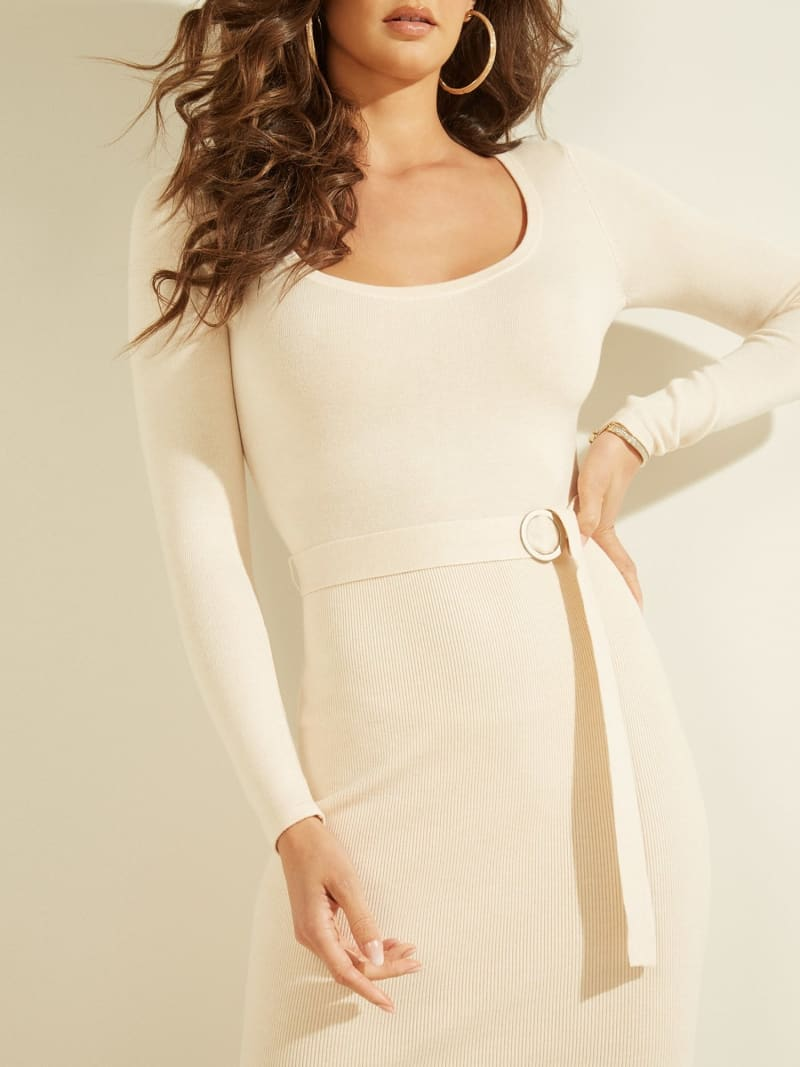 BELTED RIB KNIT DRESS image number 2