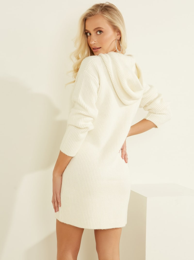 RIB KNIT DRESS HOOD image number 3