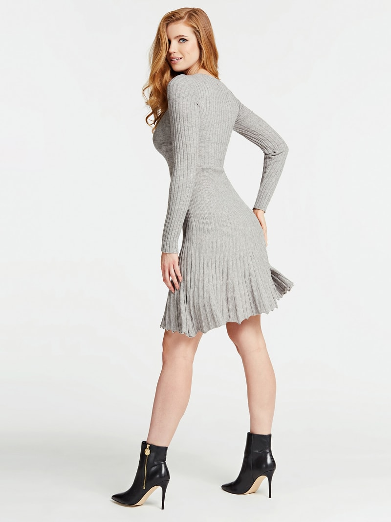 PLEATED-LOOK KNIT DRESS image number 1