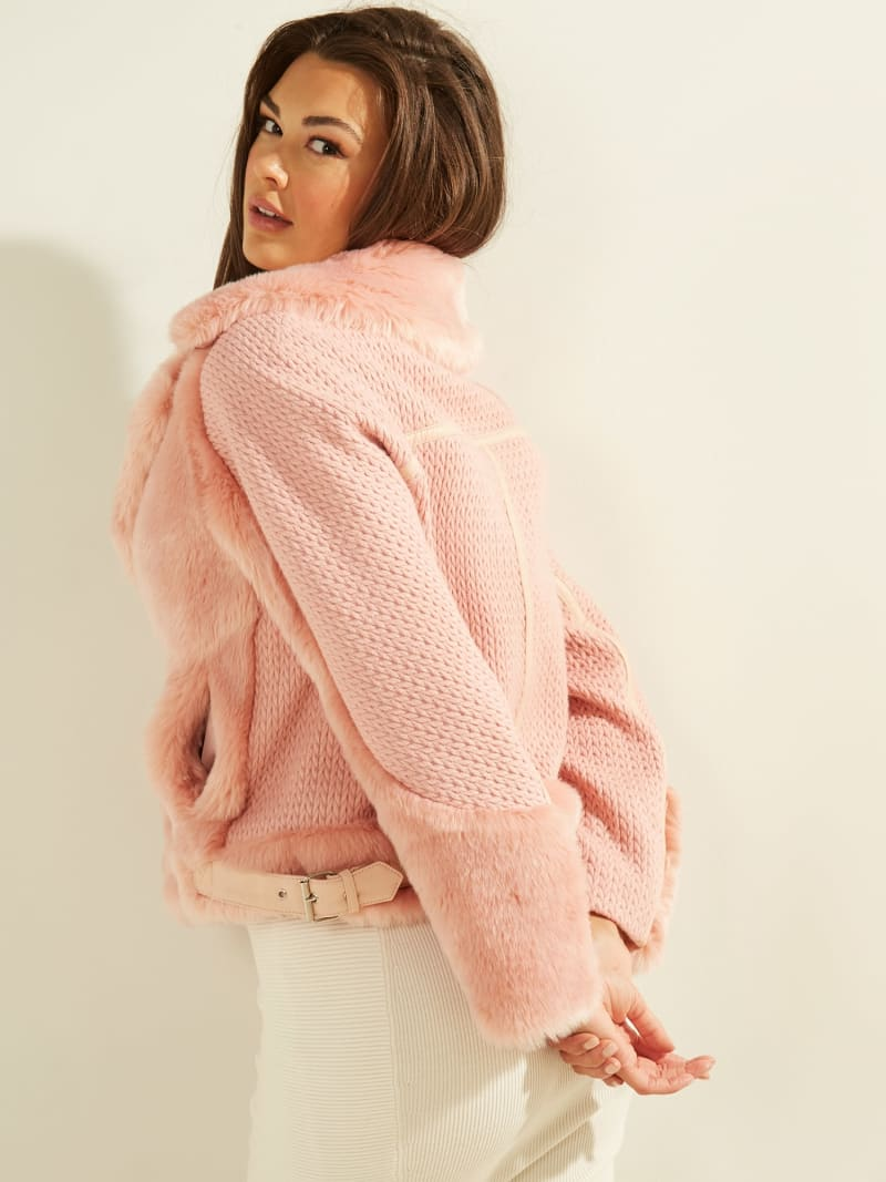 SHORT FAUX FUR JACKET image number 5