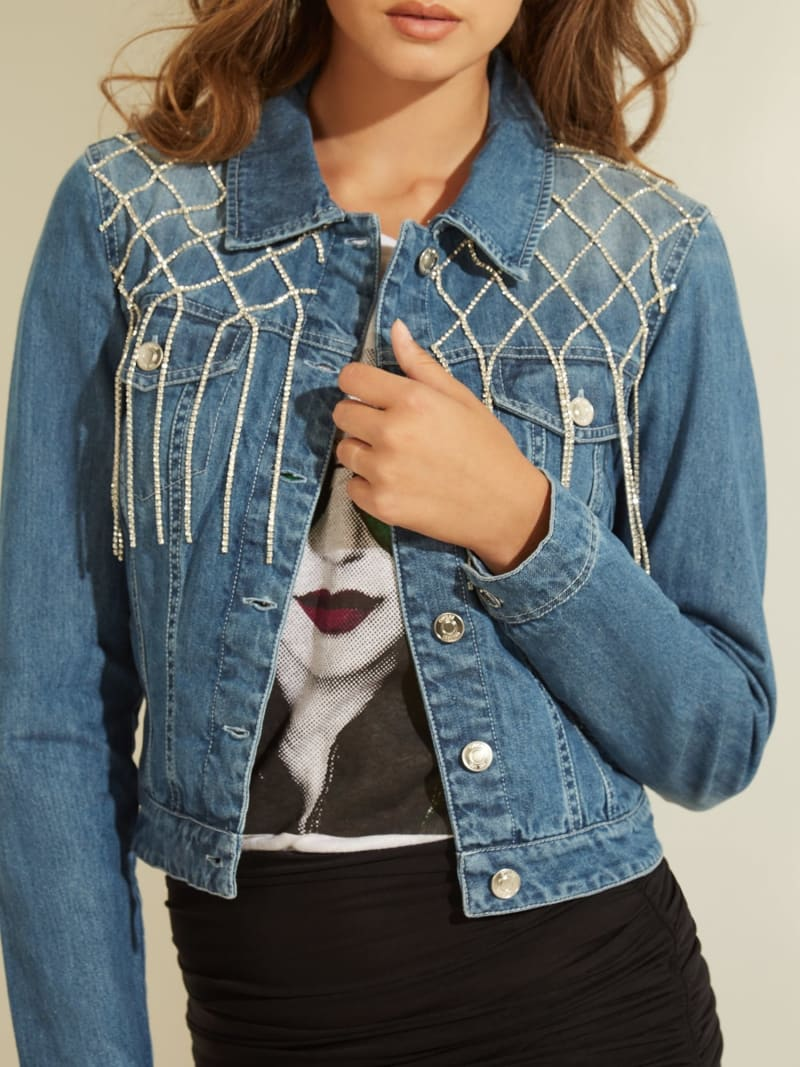 DENIM JACKET RHINESTONES image number 2