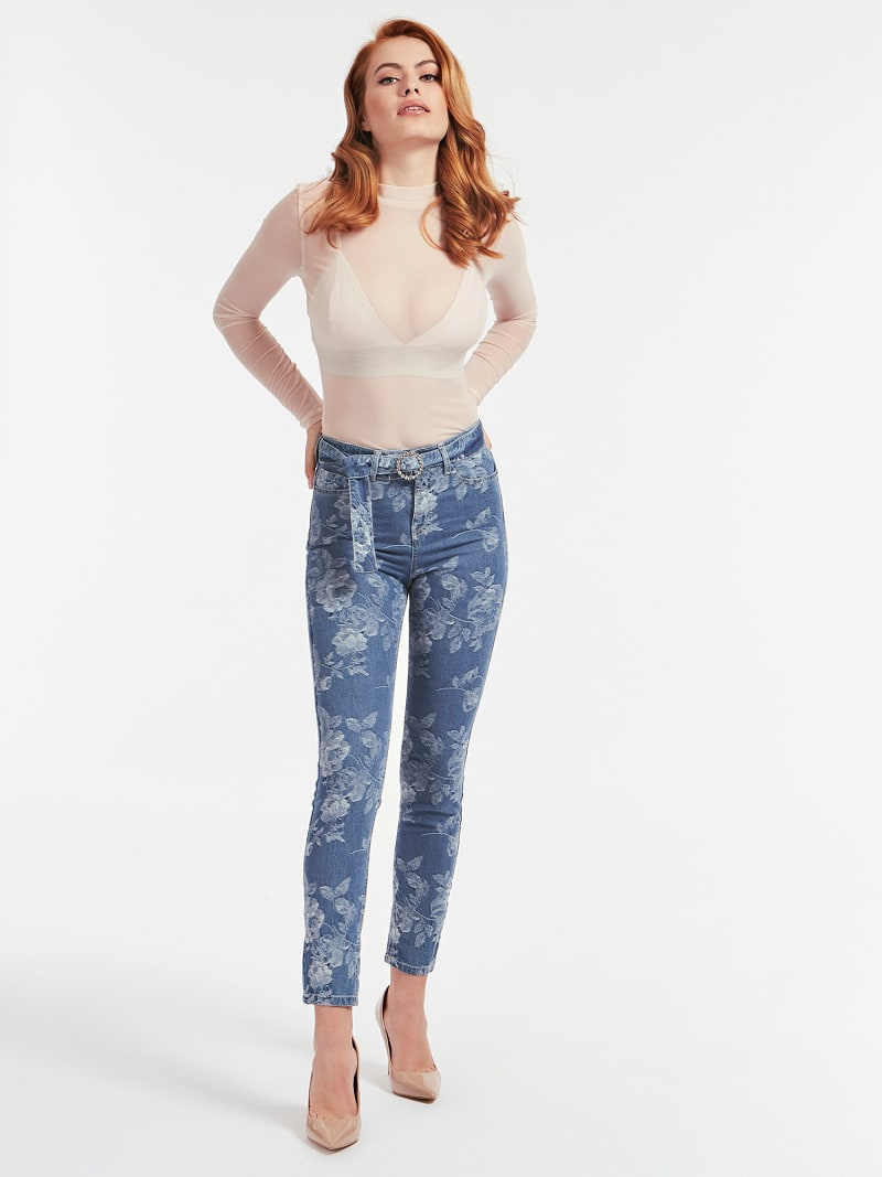JACQUARD SKINNY FIT DENIM PANT image number 1