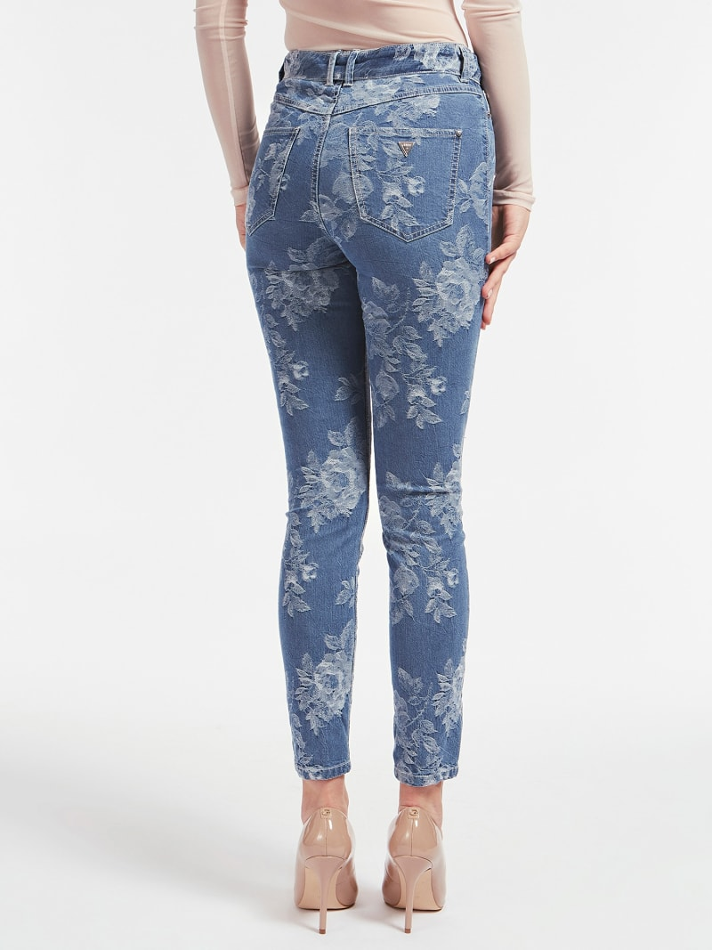 JACQUARD SKINNY FIT DENIM PANT image number 2
