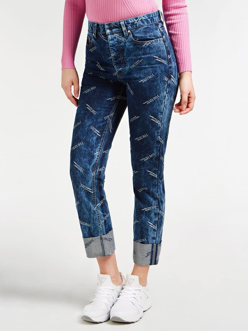 LUREX YARN RELAXED FIT DENIM PANT image number 0