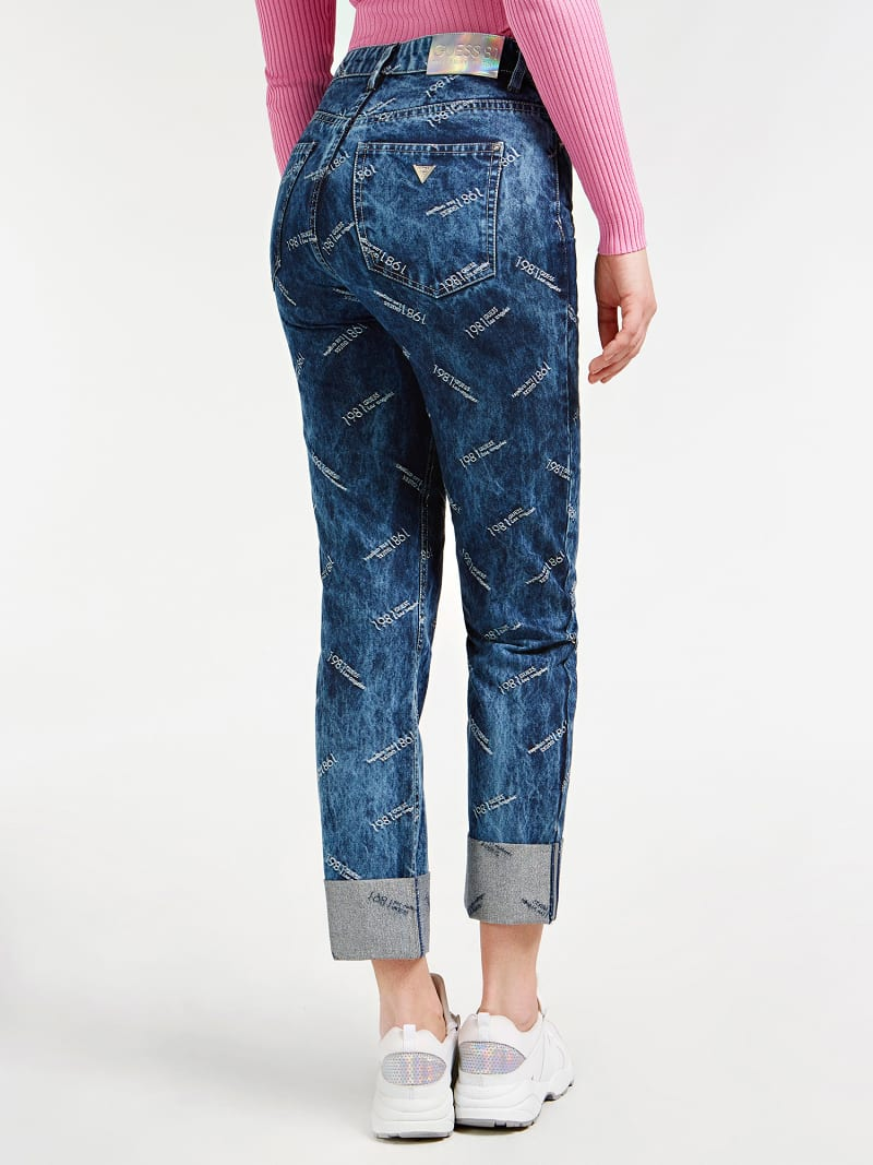LUREX YARN RELAXED FIT DENIM PANT image number 2