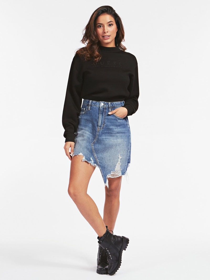 DAMAGES REGULAR FIT DENIM SKIRT image number 1