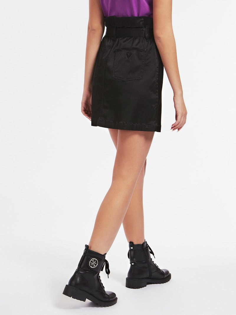 PAPER BAG DENIM SKIRT image number 2