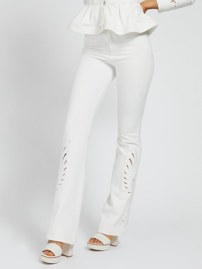 EMBROIDERY SLIM FIT DENIM PANT image number 0