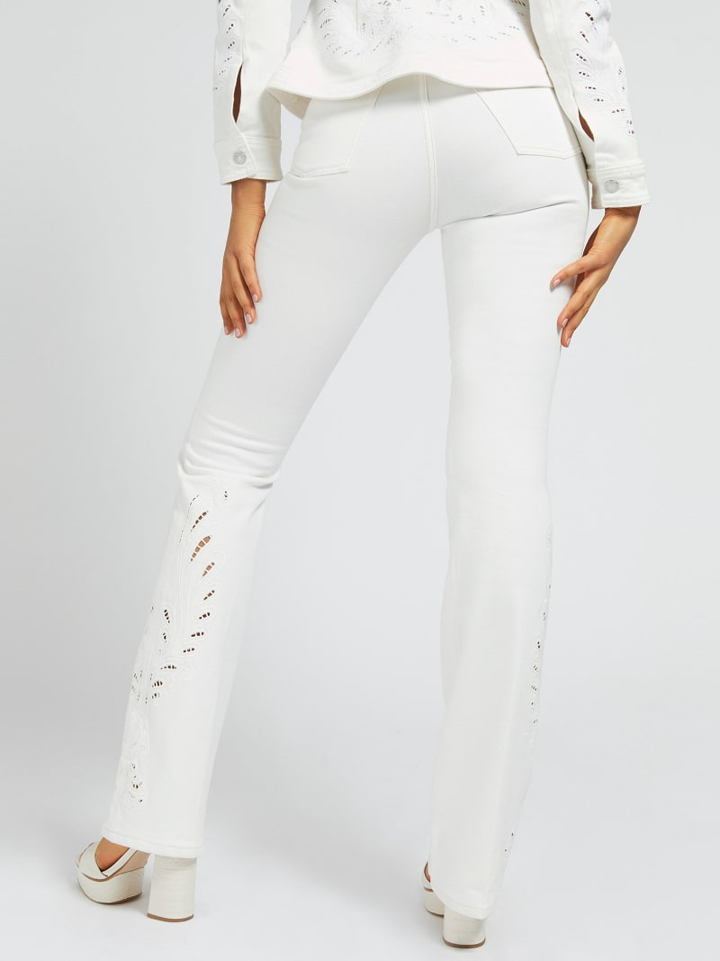 EMBROIDERY SLIM FIT DENIM PANT image number 2