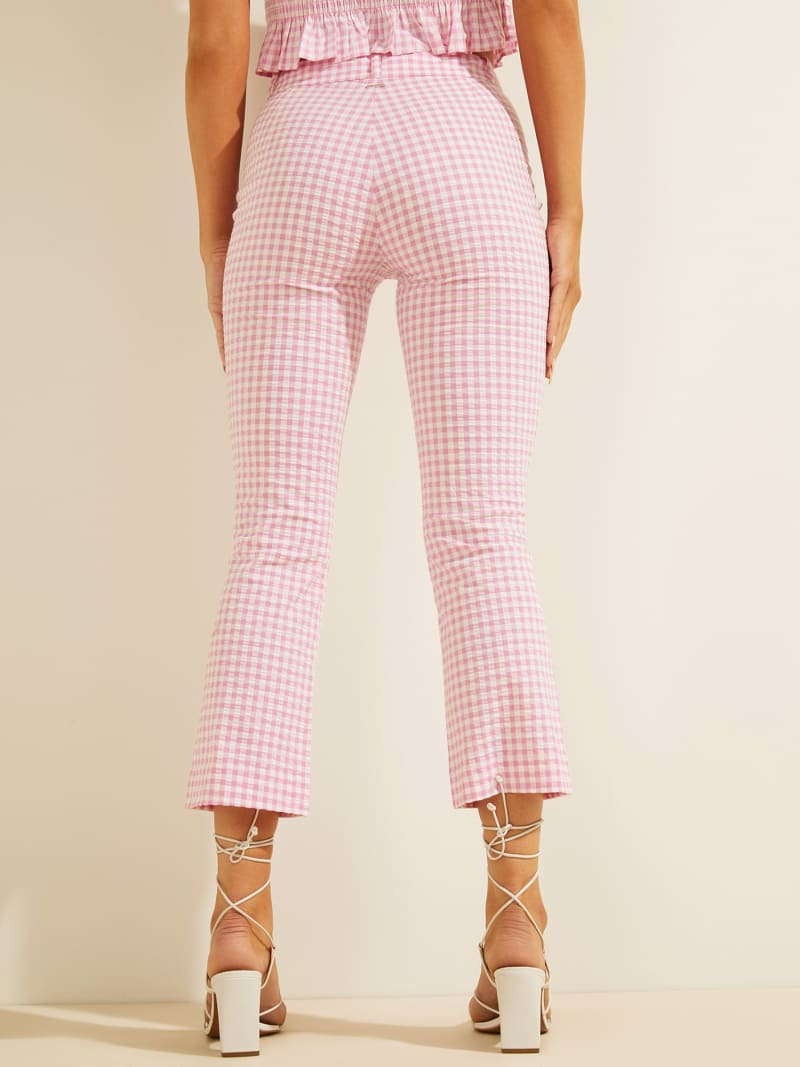 GINGHAM CHECK SKINNY FIT PANT image number 3
