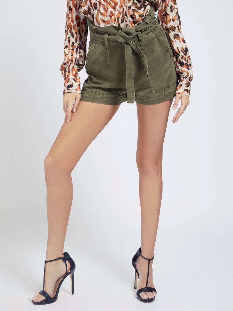 BELTED RELAXED FIT SHORTS image number 0