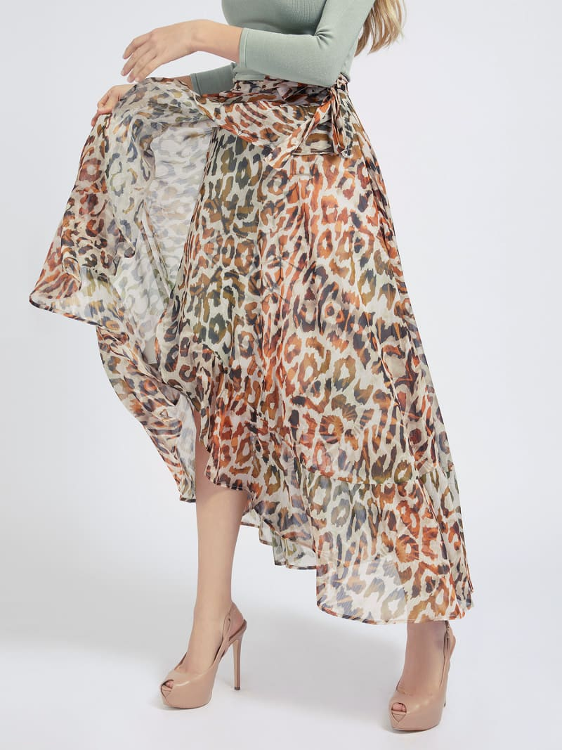 ALL OVER PRINT LONG SKIRT image number 0