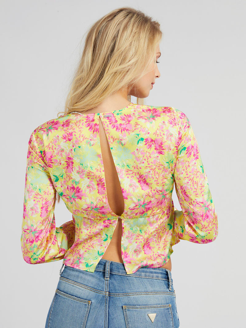 ALL OVER PRINT KNOTTED BLOUSE image number 2
