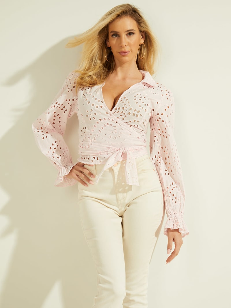 FRONT CROSSOVER BLOUSE image number 0