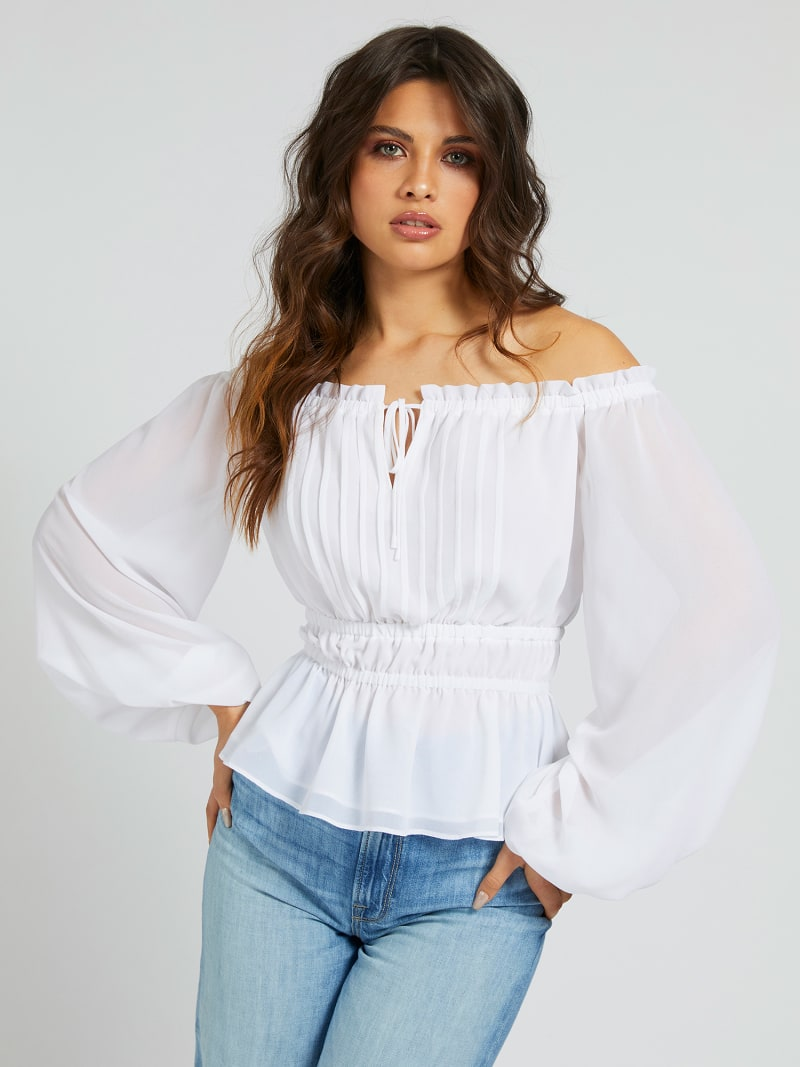 BLOUSE OFF-SHOULDER image number 0