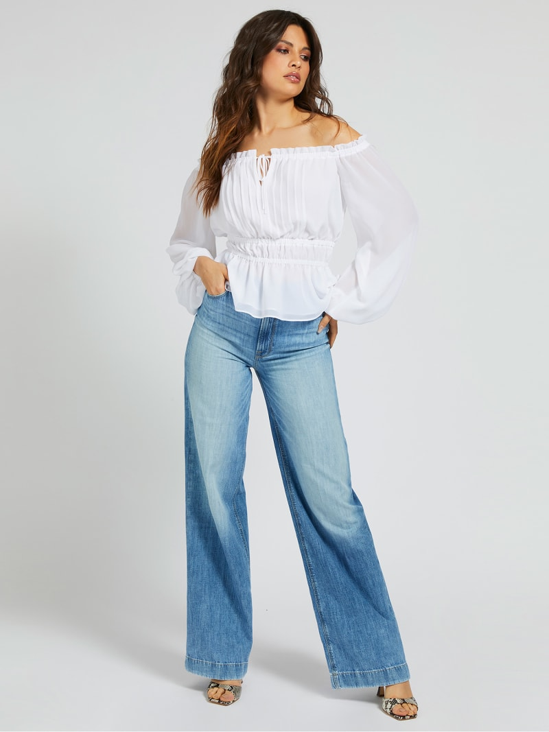 BLOUSE OFF-SHOULDER image number 1