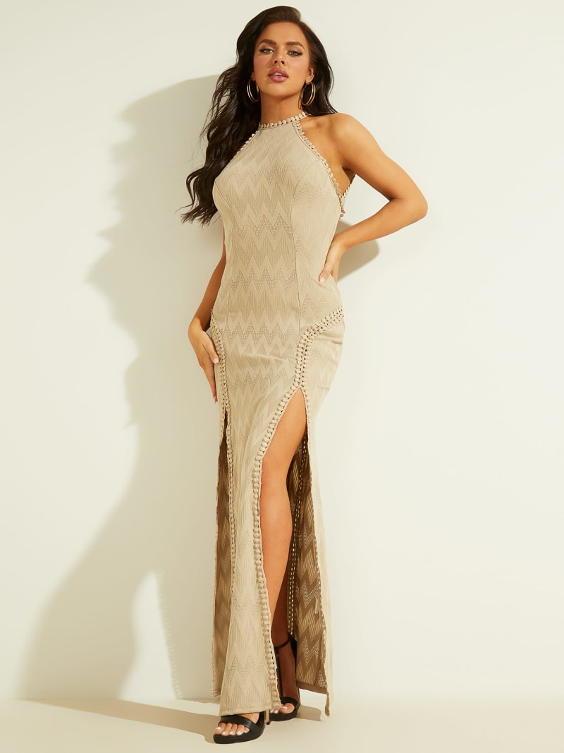 LACE LONG DRESS image number 1