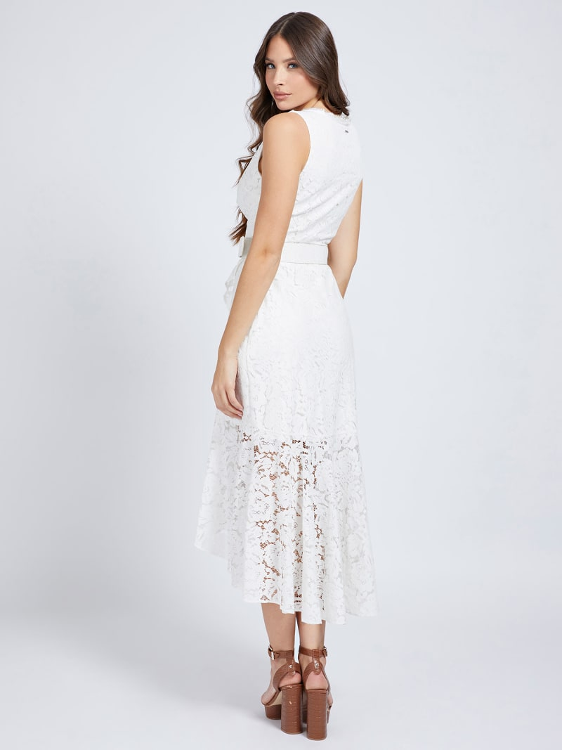 BELTED LACE DRESS image number 1