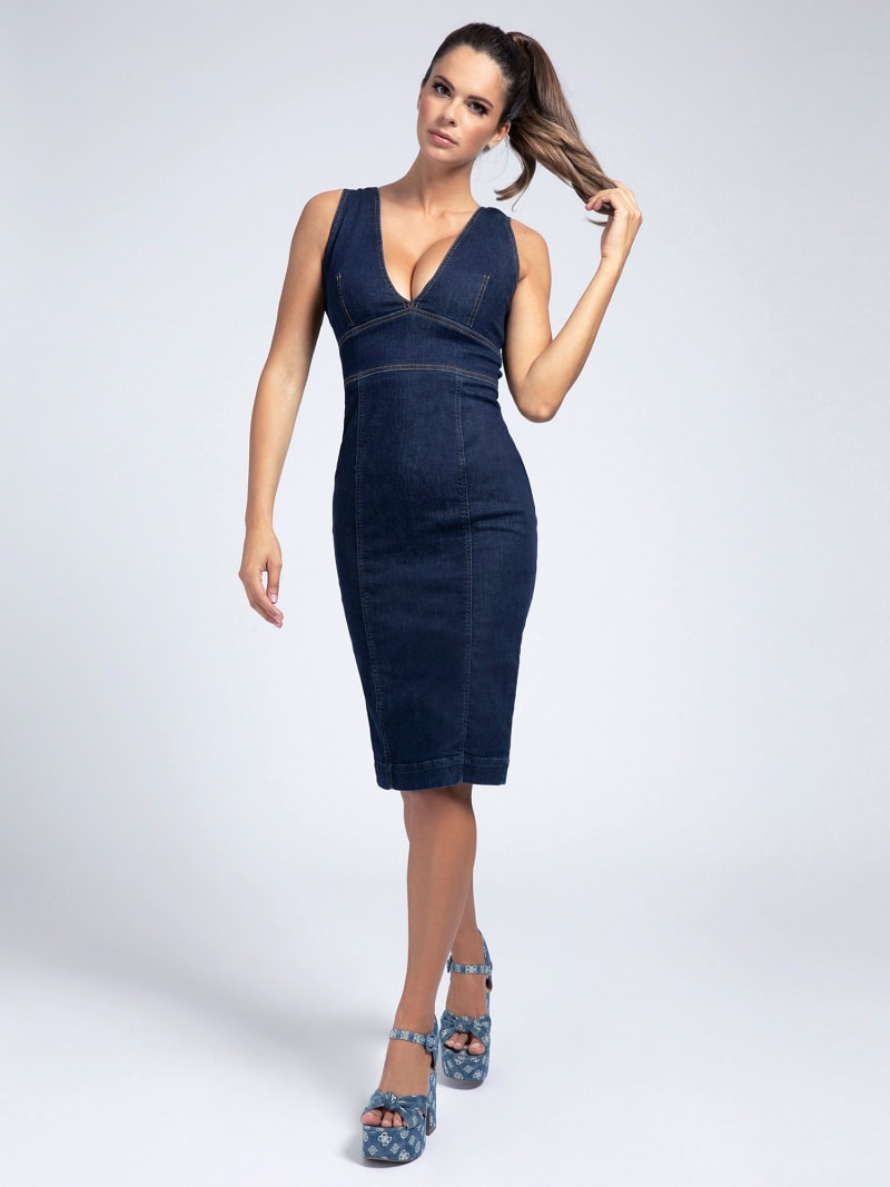 BODYCON DENIM DRESS image number 0