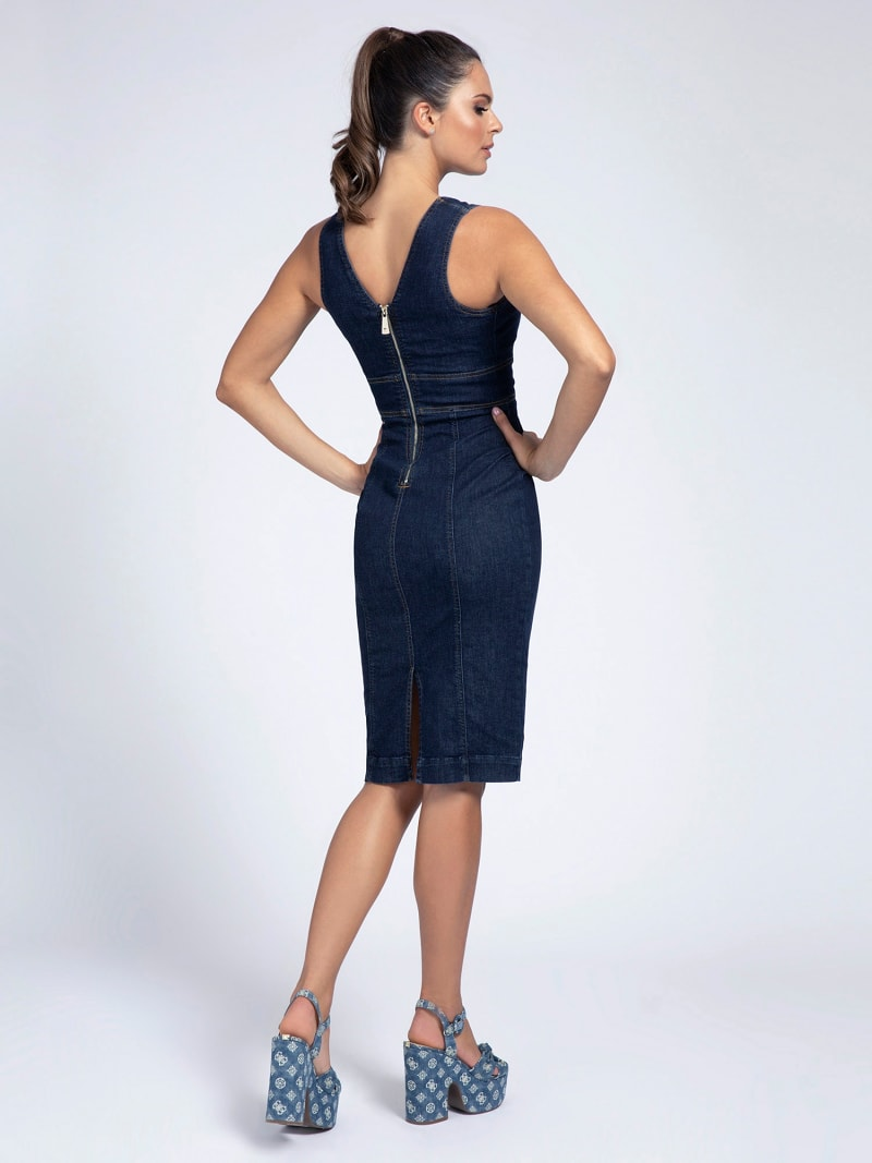 BODYCON DENIM DRESS image number 1