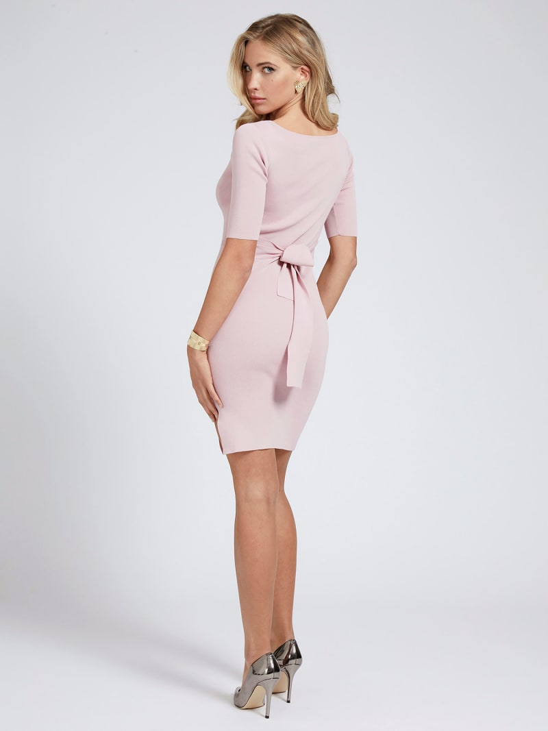 RIB BELTED DRESS image number 1