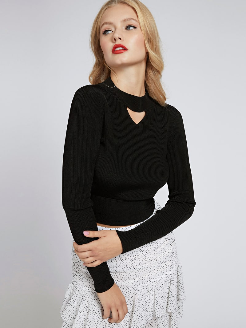 HIGH NECK RIB SWEATER image number 0