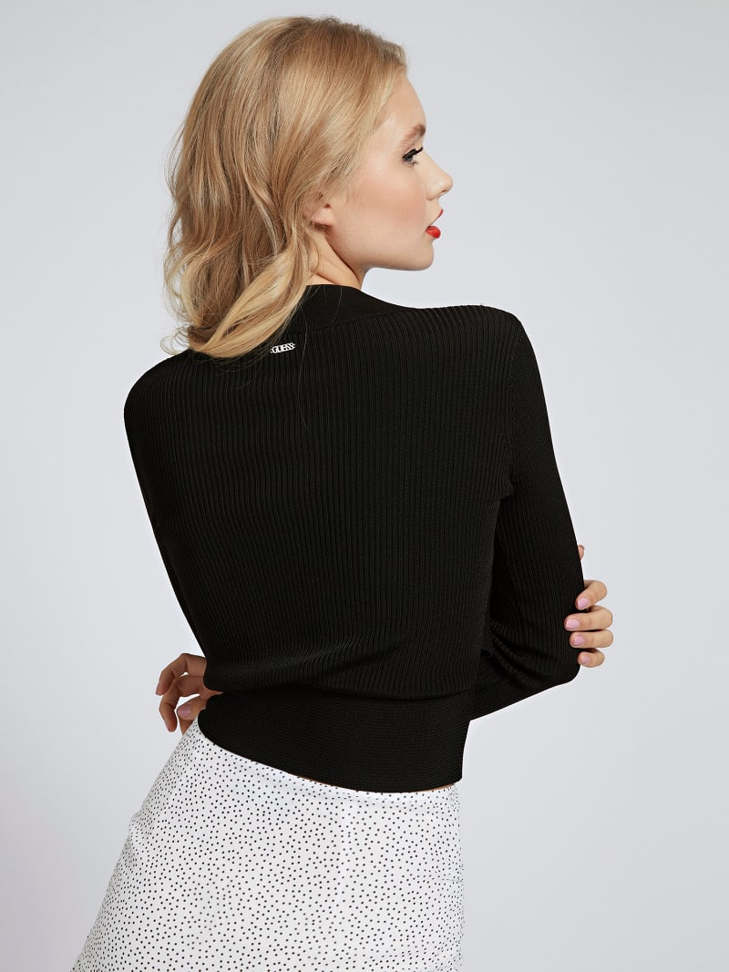 HIGH NECK RIB SWEATER image number 2