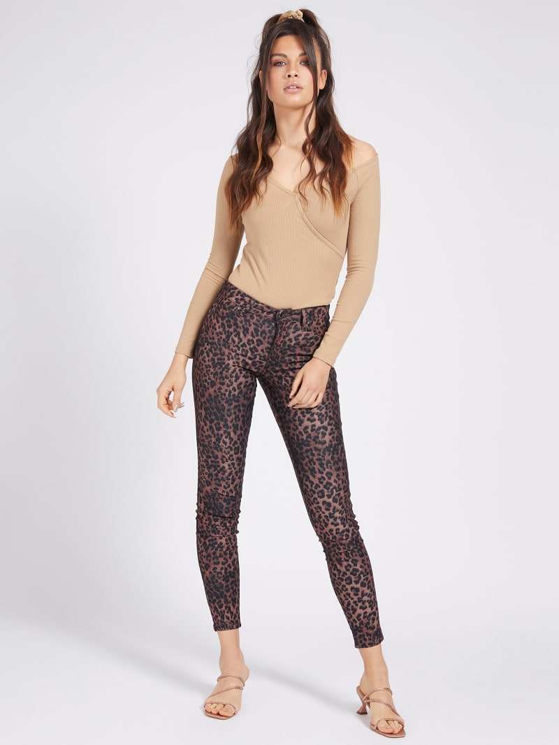 ANIMAL PRINT SHAPING FIT PANT image number 1