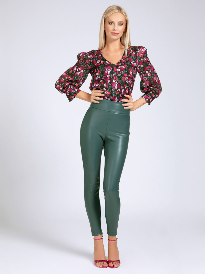 CHIFFON BELTED BLOUSE image number 1
