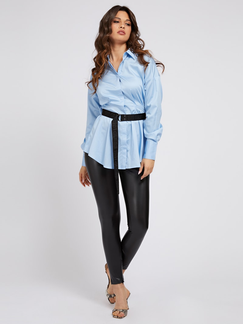 POPELINE BELTED SHIRT image number 1