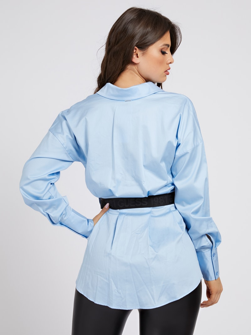 POPELINE BELTED SHIRT image number 2