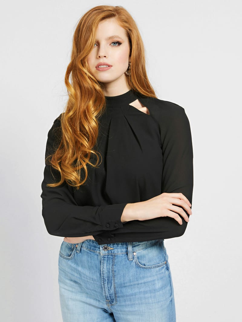CUT-OUT BLOUSE image number 0