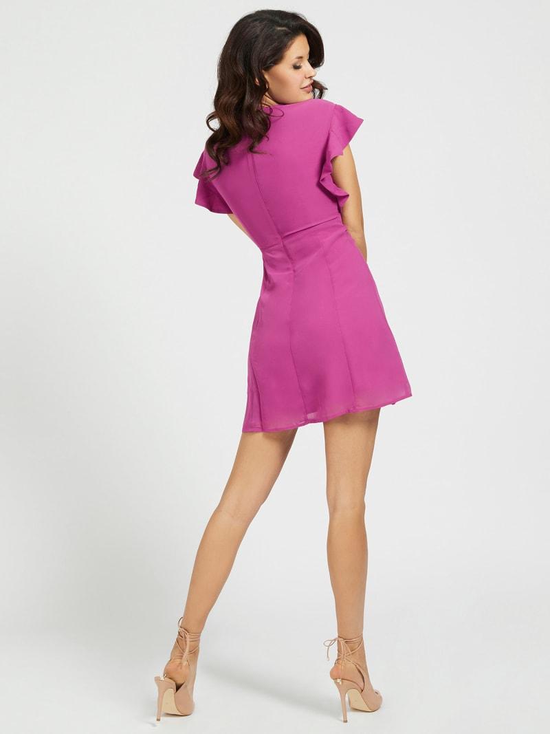 V-NECK RUFFLE DRESS image number 1