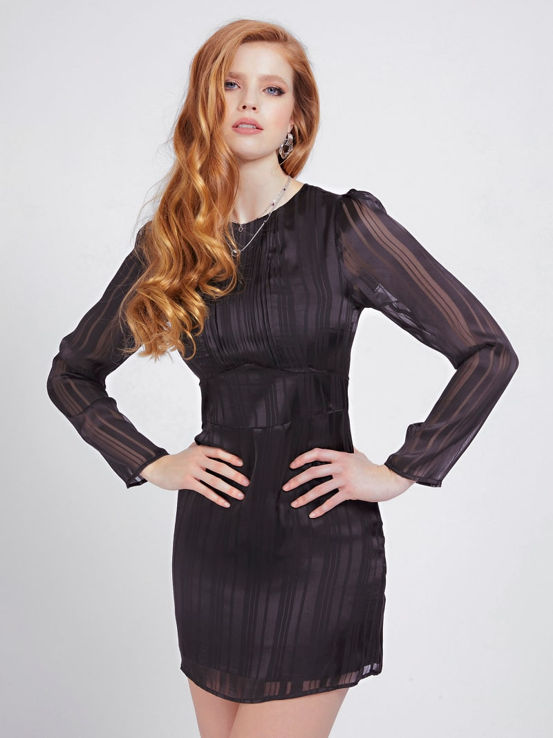 PLEATED DETAIL DRESS image number 0