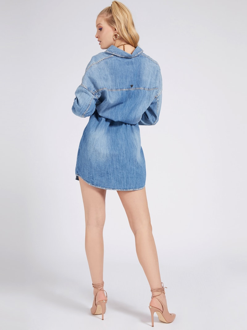 RELAXED FIT DENIM DRESS image number 1