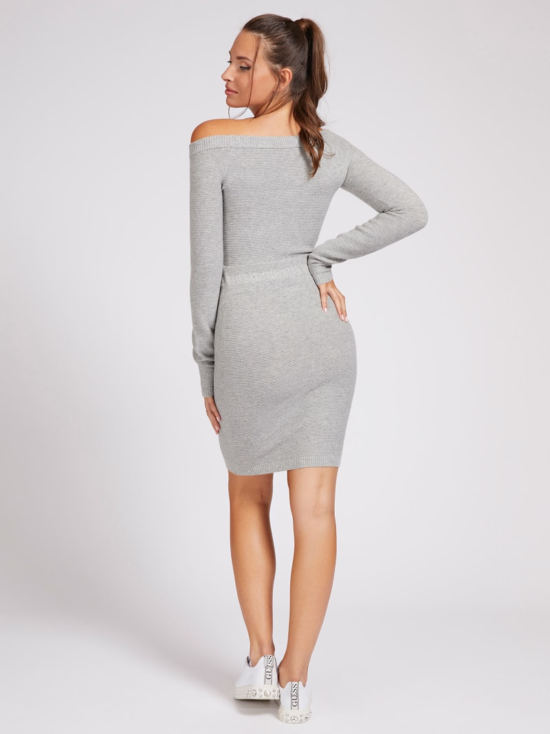 OFF-THE-SHOULDER KNIT DRESS image number 1