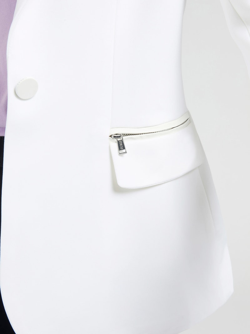 ZIPPER ON POCKETS BLAZER image number 3