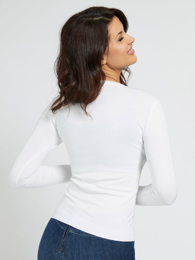 LOGO V NECK SWEATER image number 2