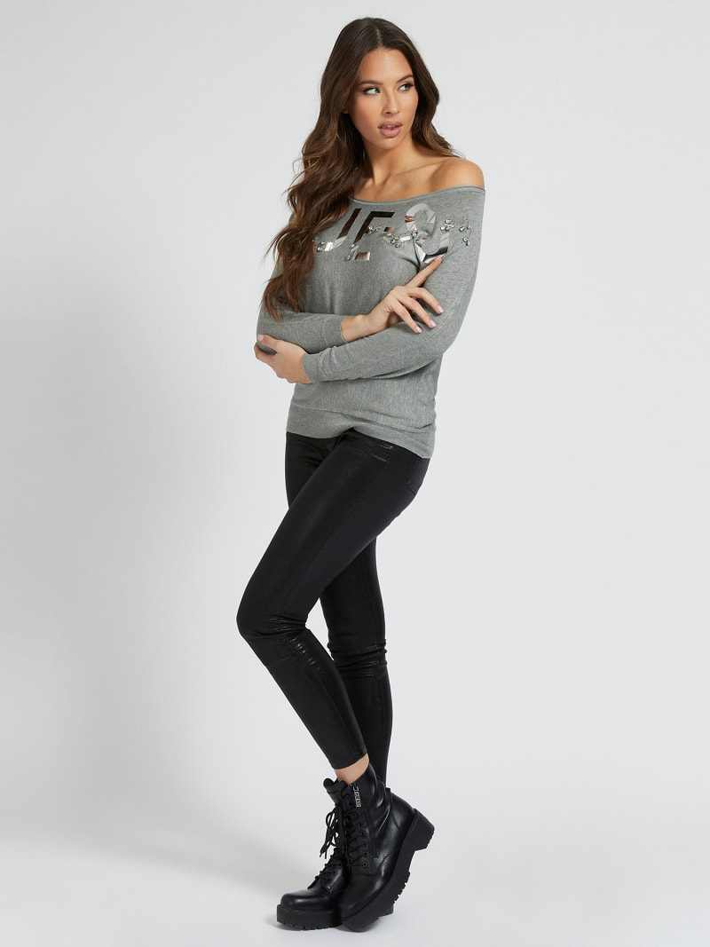 FRONT LOGO OVERSIZE FIT SWEATER image number 1