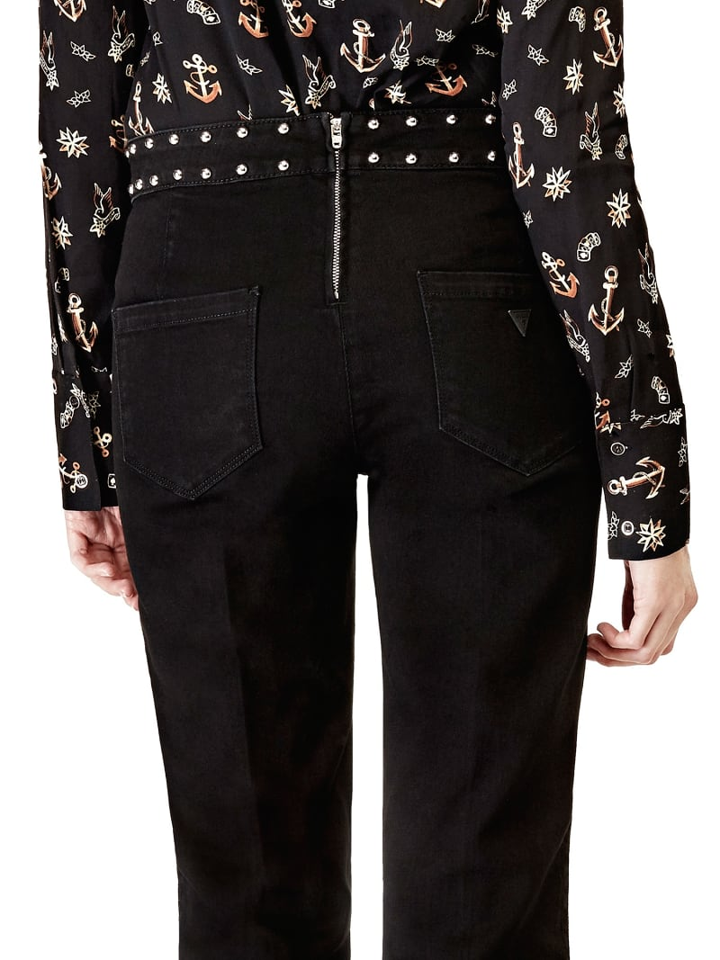 FLARED JEANS WITH STUDS image number 2