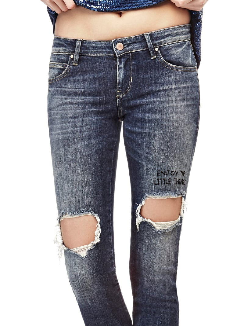 JEANS SKINNY CON STRAPPI image number 0