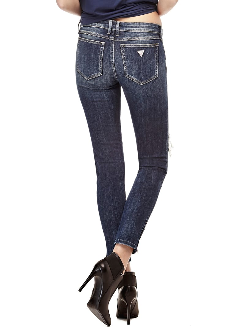 JEANS SKINNY CON STRAPPI image number 2