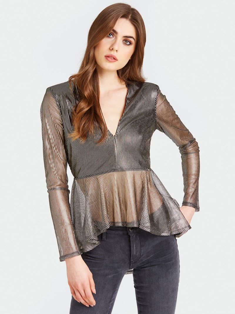 SHIRT METALLIC-OPTIK VOLANTS image number 0
