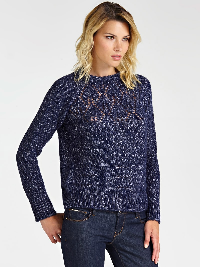 WOOL BLEND PATTERNED SWEATER image number 0