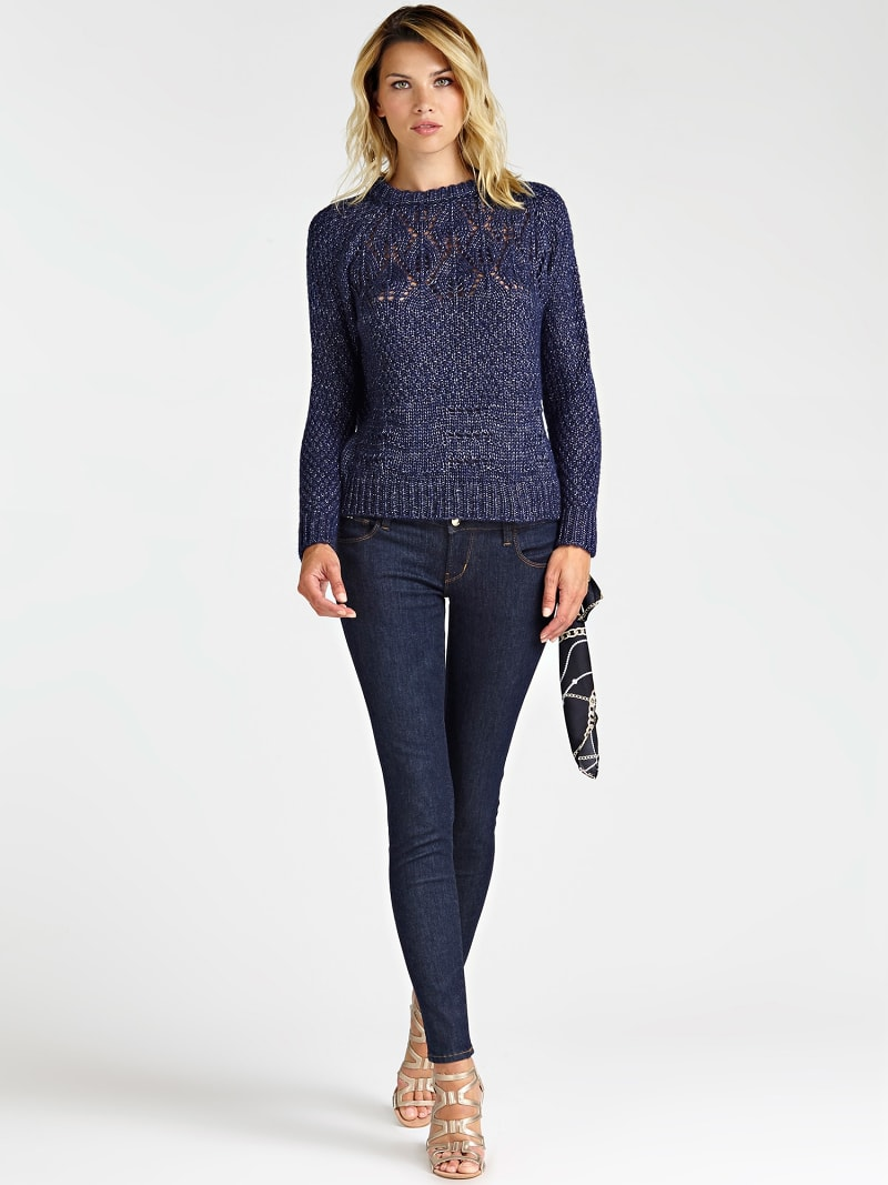 WOOL BLEND PATTERNED SWEATER image number 1