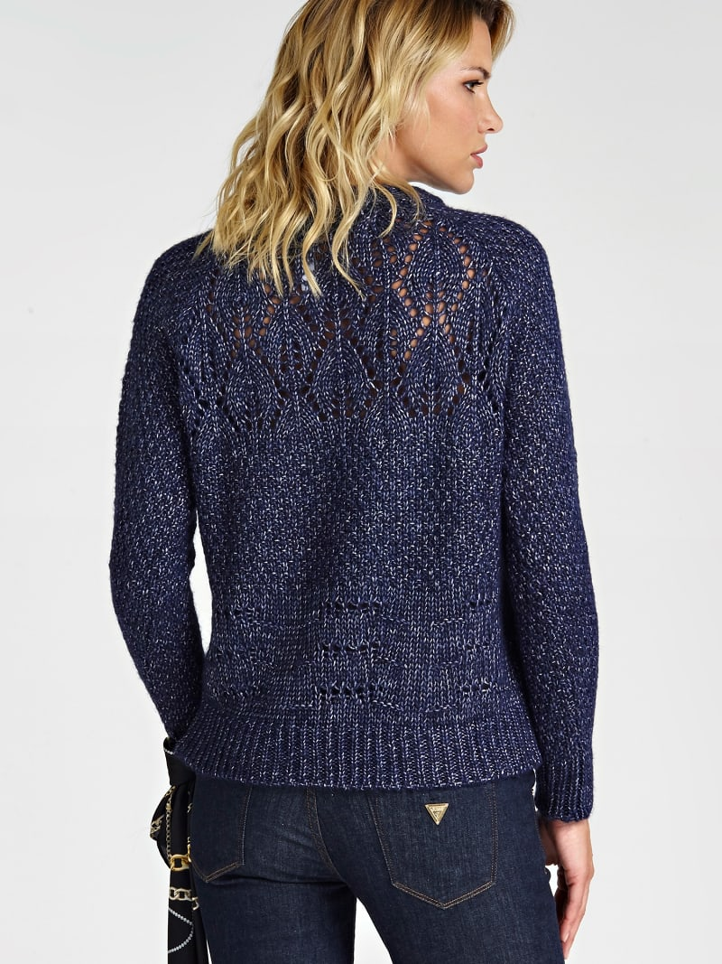 WOOL BLEND PATTERNED SWEATER image number 2