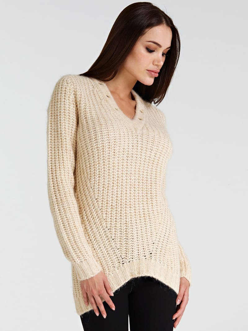 STUD NECK SWEATER image number 0