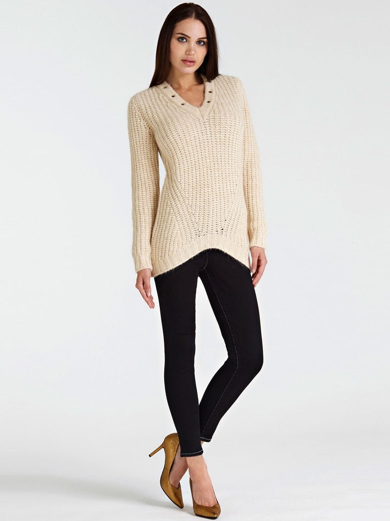 STUD NECK SWEATER image number 1