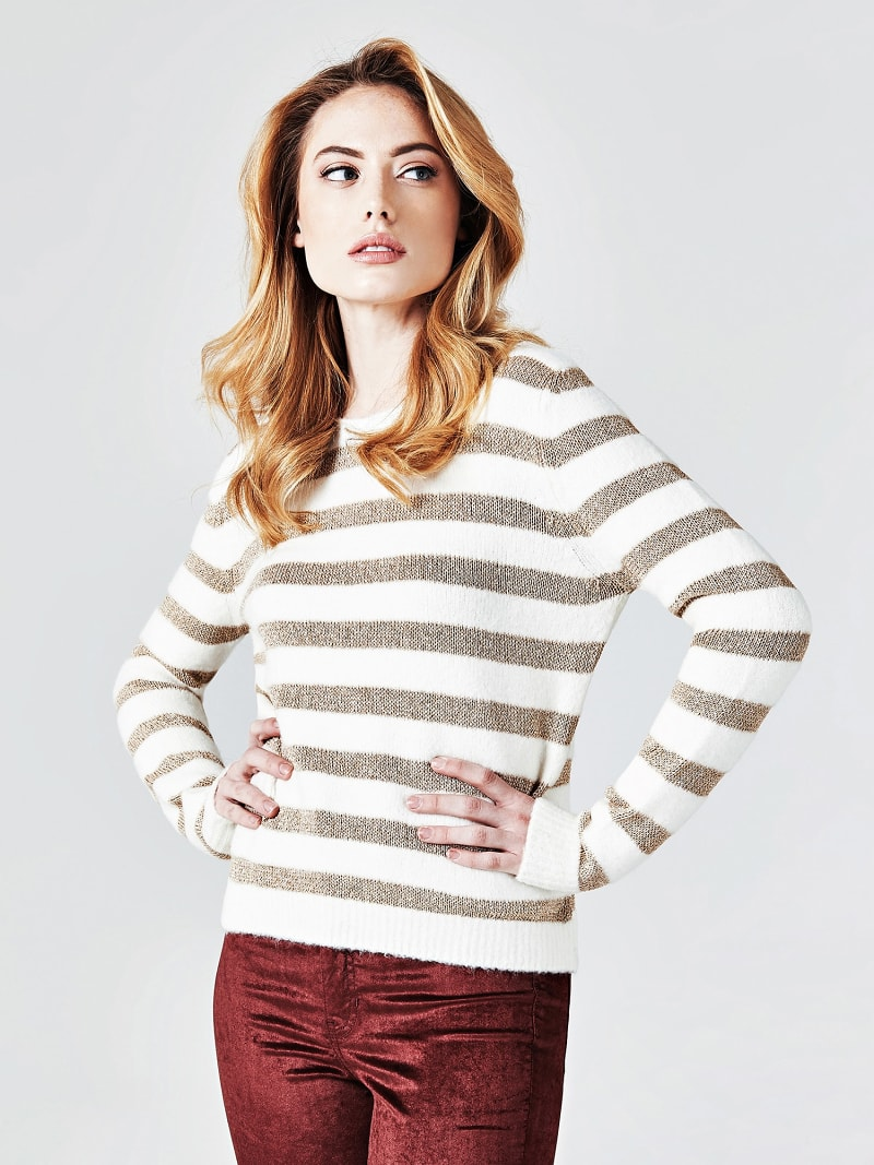 STRIPE MOTIF SWEATER image number 0