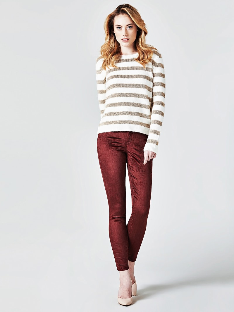 STRIPE MOTIF SWEATER image number 1